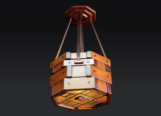 Gamble Master Bedroom Ceiling Fixture Variation