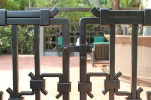 detail of robinson house wrought iron gates paadena ca, jeff grainger