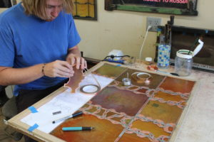 Stained glass step 4 – Wrap foil