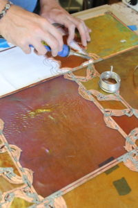 Stained glass step 5 – Solder