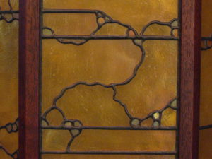 Greene-style stained glass panel by Jeff Grianger