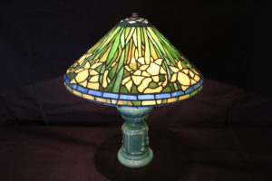 Tiffany style stained glass lamp shade by Jeff Grainer