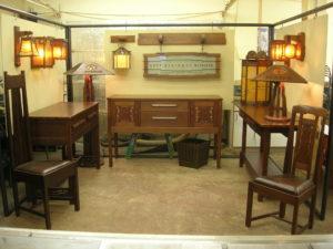 Craftsman Weekend booth, Jeff Grainger Arts and Crafts Studio