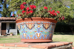 Adamson House flower pot, Spanish Colonial Revival style