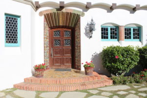 Adamson House front entry, los angeles