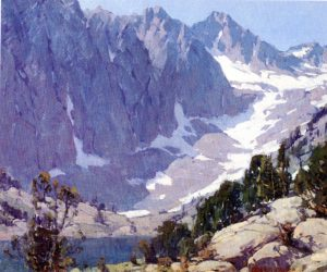 Sierra Peaks, Edgar Payne. Source: Plein Air Painters of California, the Southland, by Westphal Plein Air Painters of California, the Southland, by Westphal