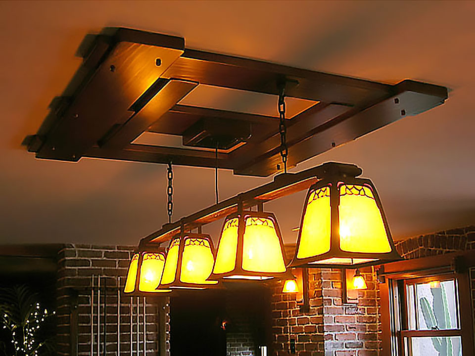 ROBINSON POOL TABLE CHANDELIER