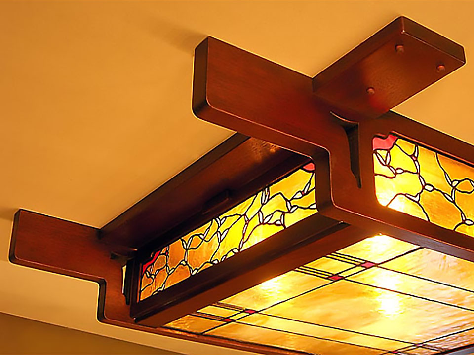 BIRDS IN FLIGHT CEILING FIXTURE - Detail.