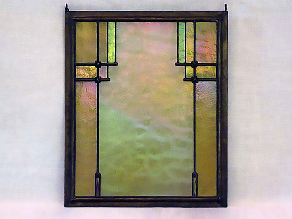 CULBERTSON LEADED IRIDESCENT ART GLASS