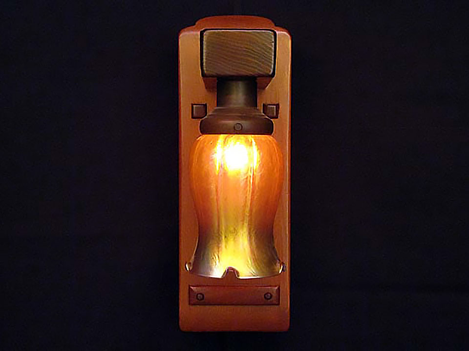 ROBINSON TULIP SCONCE - Front View.