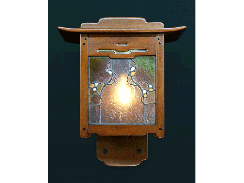 GAMBLE INGLENOOK SCONCE - Front View